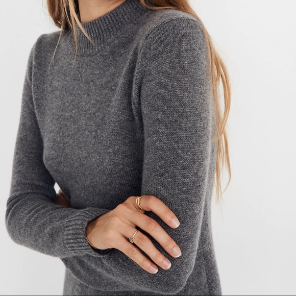 Madewell Dresses & Skirts - NWT Madewell Grey Cashmere Midi sweater dress S